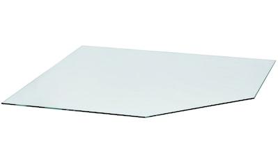 Glasbodenplatte für Kaminöfen , vieleck, 120x120cm, zum Funkenschutz kaufen