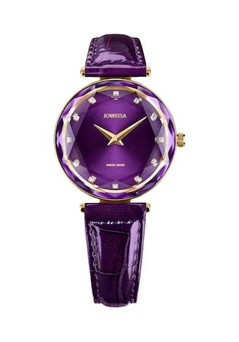 JOWISSA Schweizer Uhr »Facet Brilliant«, mit Lederarmband kaufen