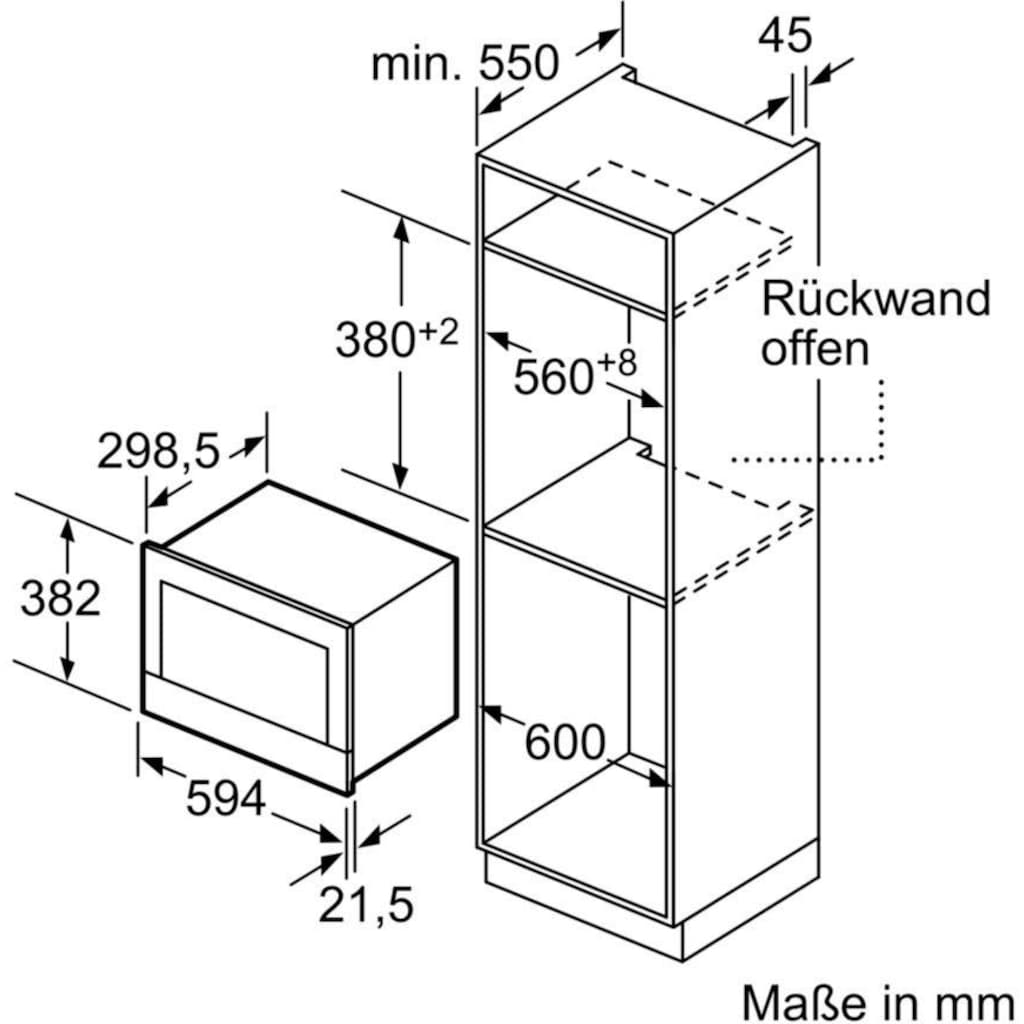NEFF Einbau-Mikrowelle »N 70 C17GR00N0«, Grill-Mikrowelle, 900 W