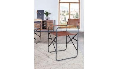 Gutmann Factory Klappstuhl, aus Büffelleder, zusammenklappbarer Esszimmerstuhl,... kaufen