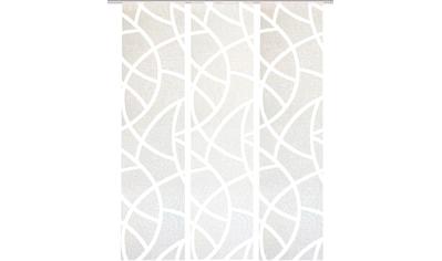 HOME WOHNIDEEN Schiebegardine »CASSÉ«, Dekostoff, mit transparentem Scherli kaufen
