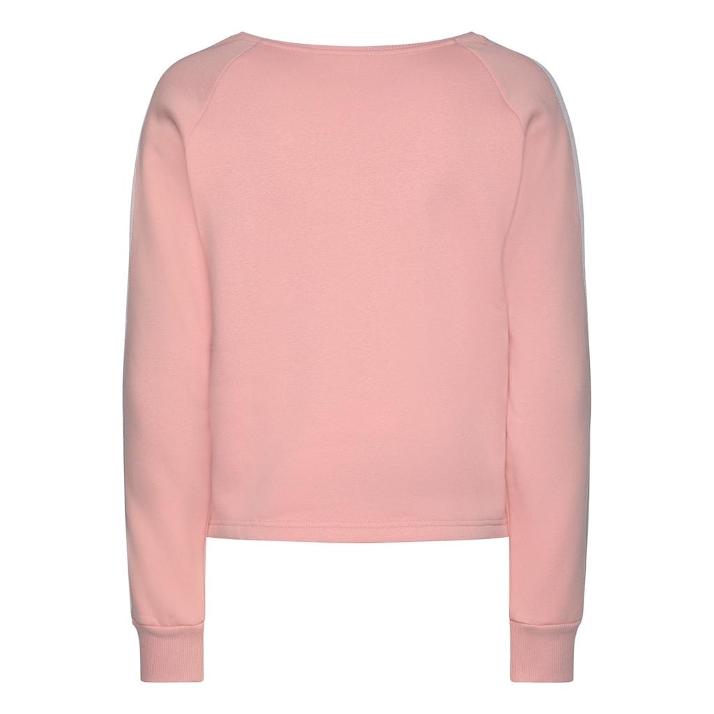Bench. Sweater, kurze Form mit Kontraststreifen