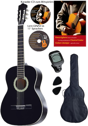 Clifton Konzertgitarre »Konzertgitarren Set, 4/4«, 4/4, Komplettset kaufen