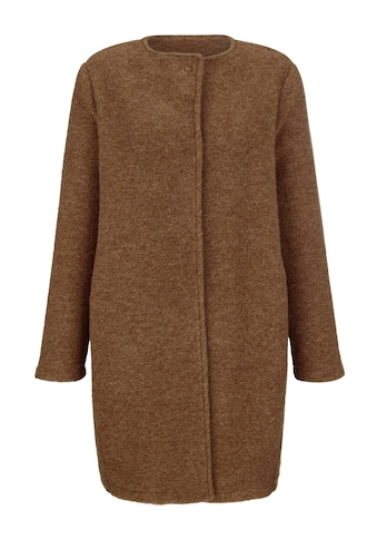 Alba Moda Langjacke, in modischer Kochwoll-Optik kaufen