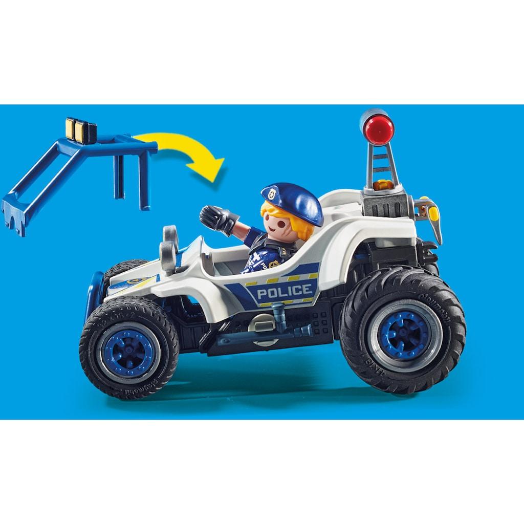 Playmobil® Konstruktions-Spielset »Polizei-Geländewagen: Verfolgung des Schatzräubers (70570), City Action«, (89 St.), Made in Germany