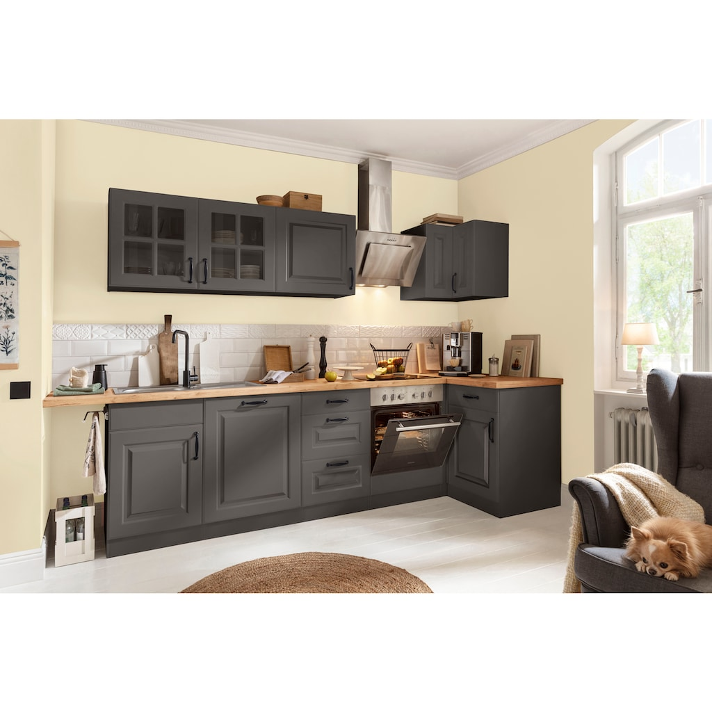 wiho Küchen Eckunterschrank »Erla«, 110 cm breit mit Kassettenfront, ohne Arbeitsplatte