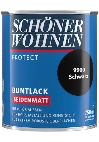 SCHÖNER WOHNEN-Kollektion Lack »Protect Buntlack«, seidenmatt, 750 ml, schwarz kaufen