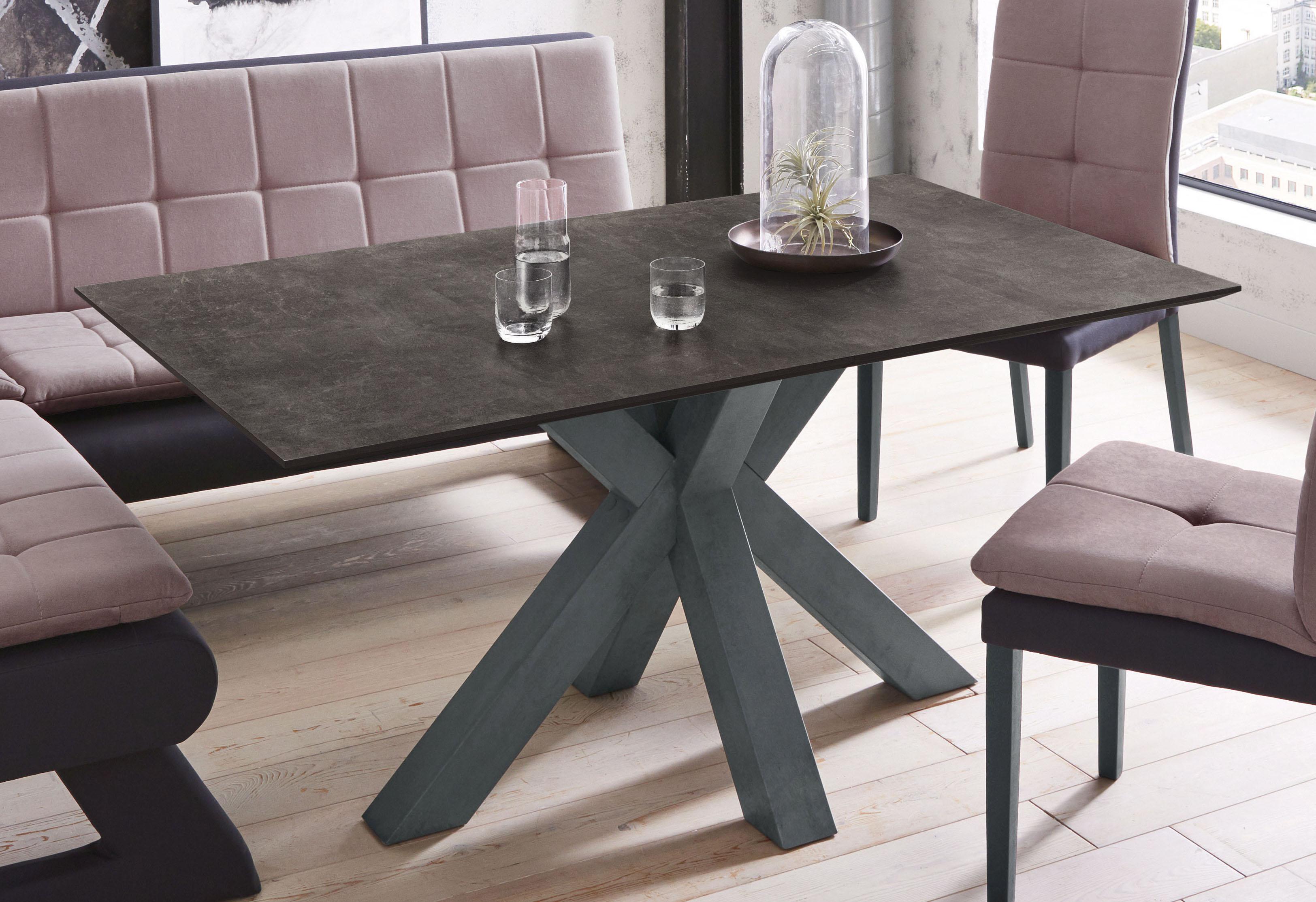 Mäusbacher Esstisch, Breite 160 cm grau Esstisch Esstische rechteckig Tische