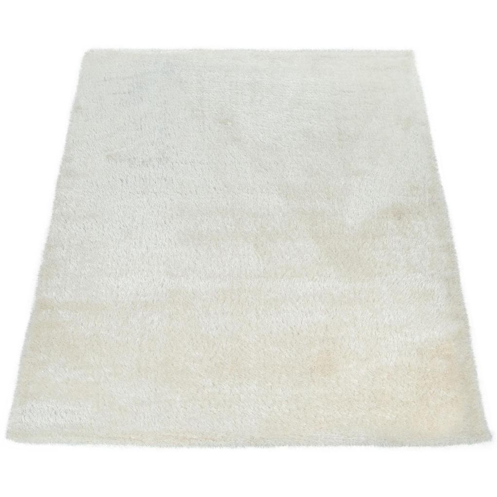 Paco Home Hochflor-Teppich »Touch 100«, rechteckig, 45 mm Höhe, weicher Uni Shaggy mit Glanz Garn, Wohnzimmer