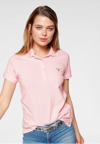 Gant T-Shirt, mit Kontrast Logo-Stickerei auf der Brust kaufen