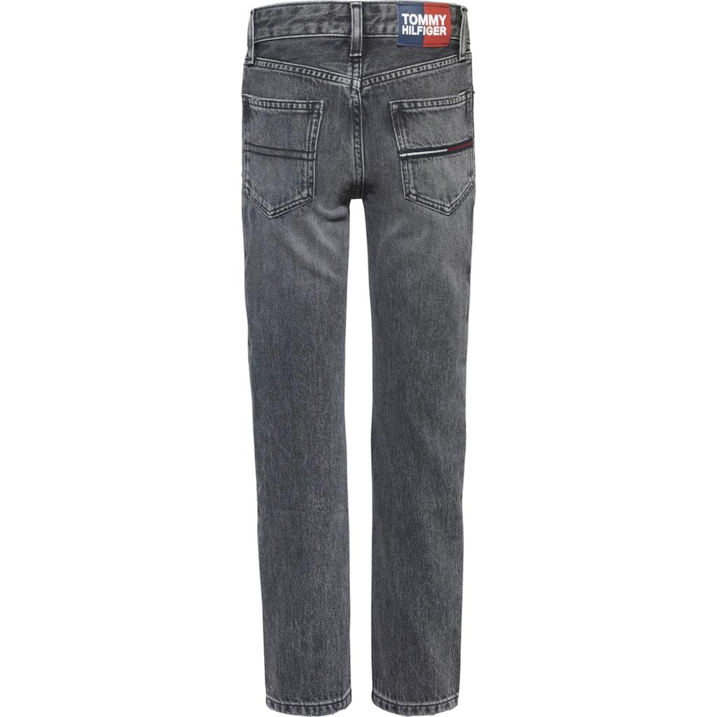 TOMMY HILFIGER Stretch-Jeans, mit Logo-Badge am Bund