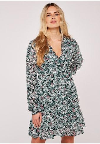 Apricot Druckkleid »Graphic Daffodil Ruffle Dress«, mit Rüschen kaufen