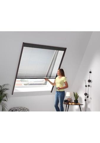hecht international Insektenschutz-Dachfenster-Rollo, braun/schwarz, BxH: 160x180 cm kaufen