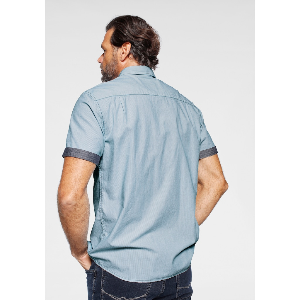 Man's World Kurzarmhemd, in feiner Streifenoptik