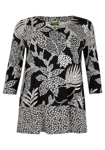 VIA APPIA DUE Extravagantes Shirt mit floralem Muster kaufen