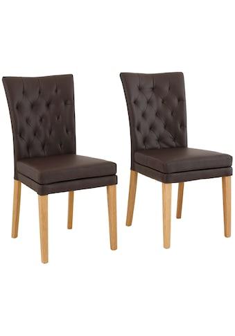 Home affaire Stuhl »Colorado«, Beine in eiche oder nussbaum. Im 2er, 4er oder 6er-Set kaufen