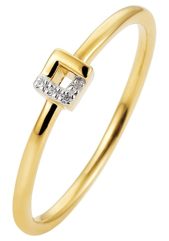 JOBO Diamantring, schmal 585 Gold bicolor mit 4 Diamanten kaufen