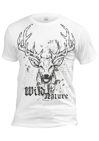 Der Trachtler Trachten - Shirt mit lässigem Frontprint kaufen