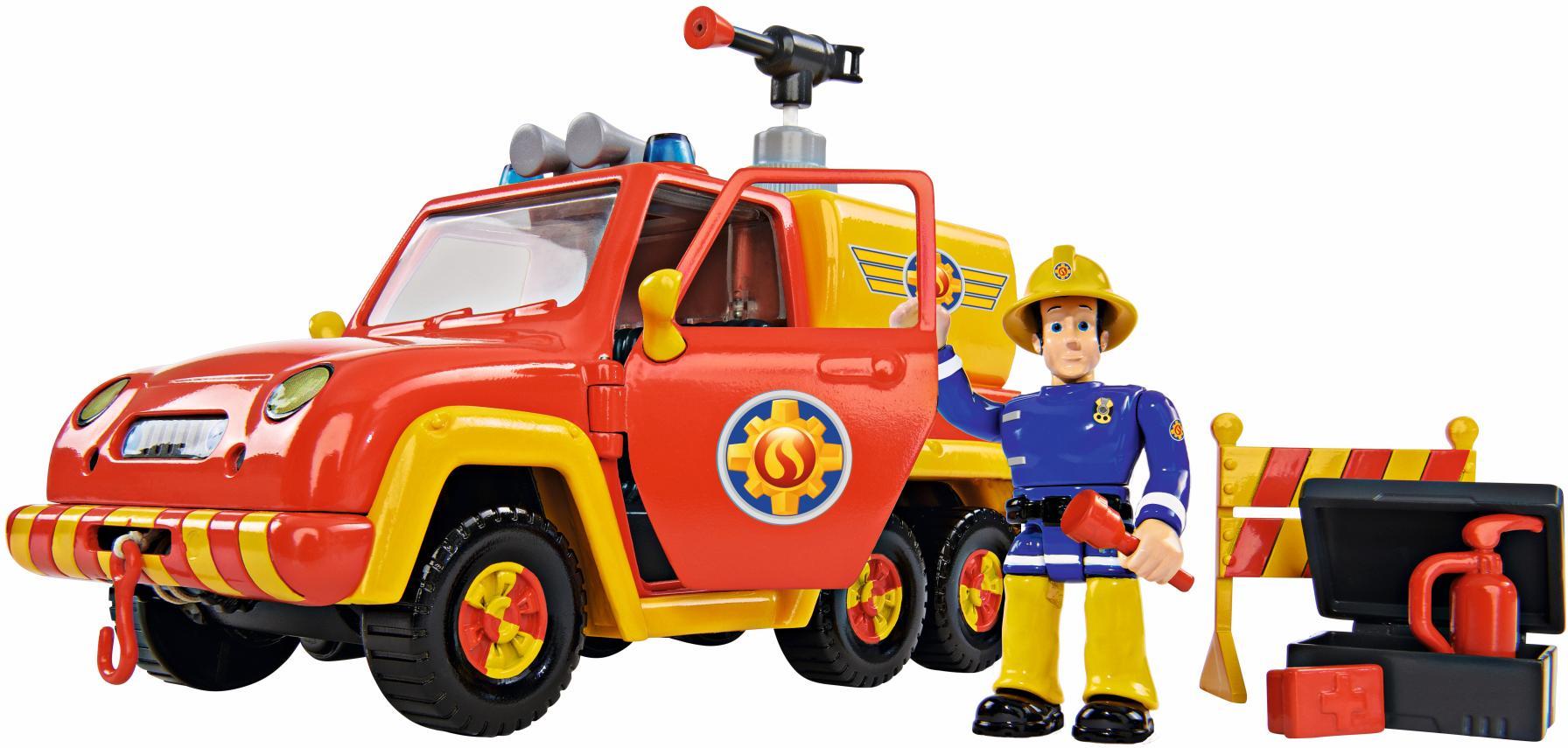 SIMBA Spielzeug-Feuerwehr Feuerwehrmann Sam, Feuerwehrauto Venus mit Figur (Set) bunt Kinder Ab 3-5 Jahren Altersempfehlung Spielzeugfahrzeuge
