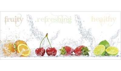 Home affaire Glasbild »Porzani & Kesu: Fruchtig - erfrischend - gesund«, 125/50 cm kaufen