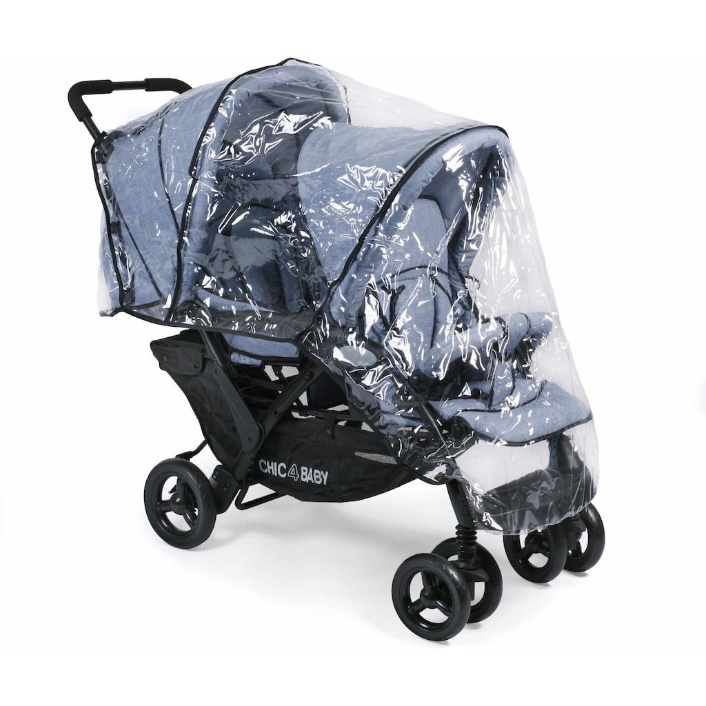 CHIC4BABY Geschwisterwagen »Duo, hellblau«, mit feststellbaren Doppelschwenk-Vorderrädern; Kinderwagen