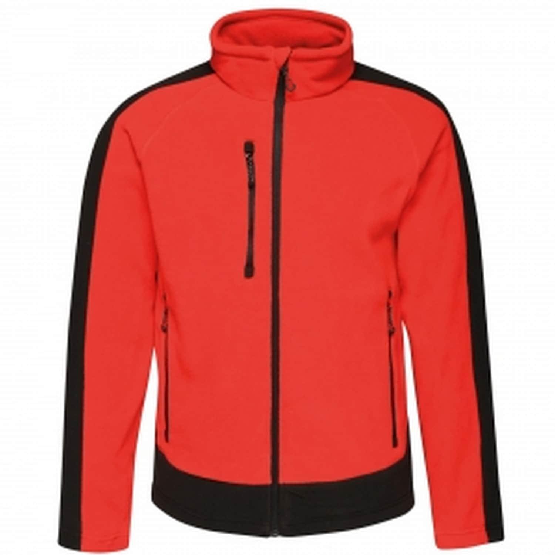 Regatta Fleecejacke Herren Fleece-Jacke in Kontrastfarben   Bekleidung > Jacken > Fleecejacken   Rot   Regatta
