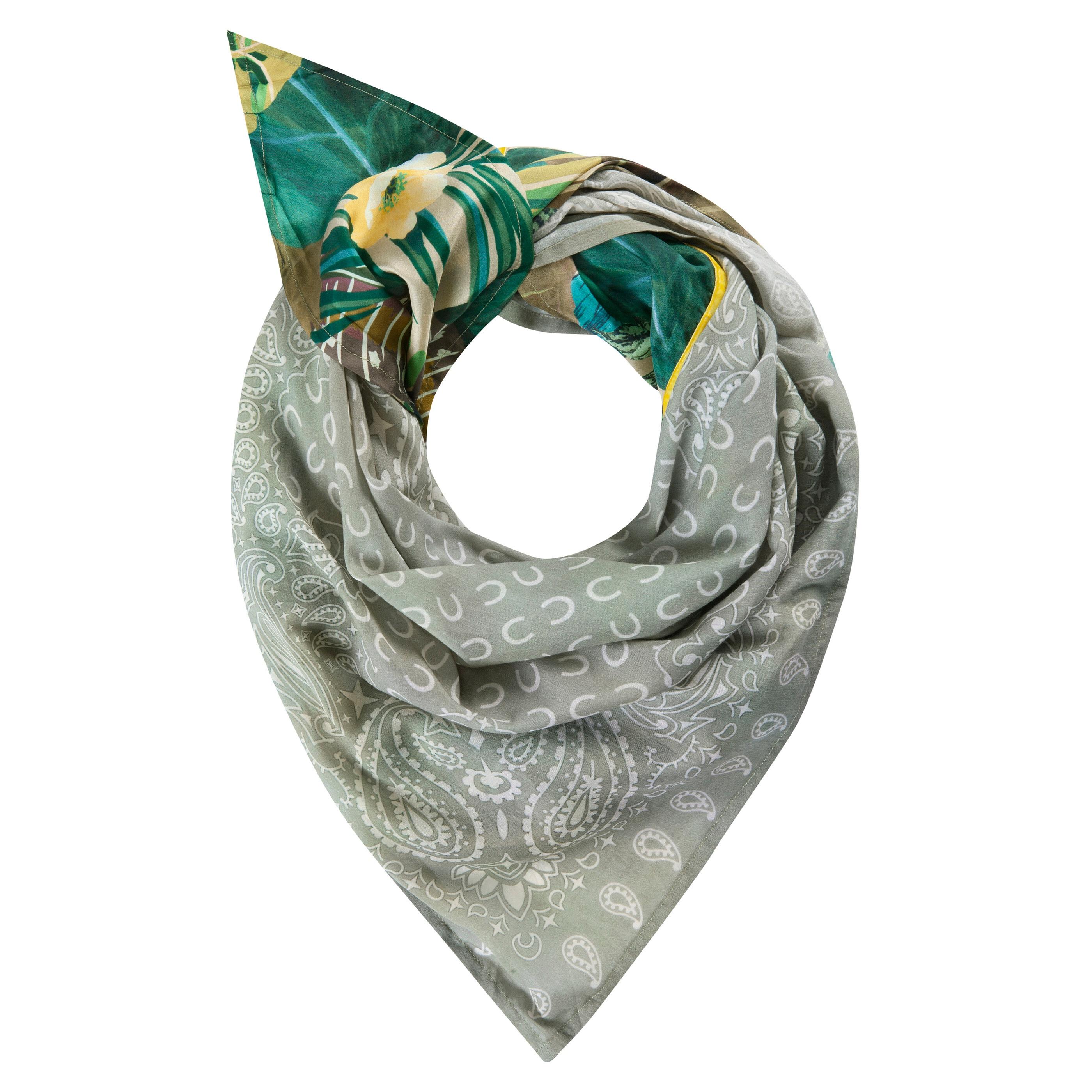 Codello Dreieckstuch, aus Baumwolle und Seide grün Damen Dreieckstuch