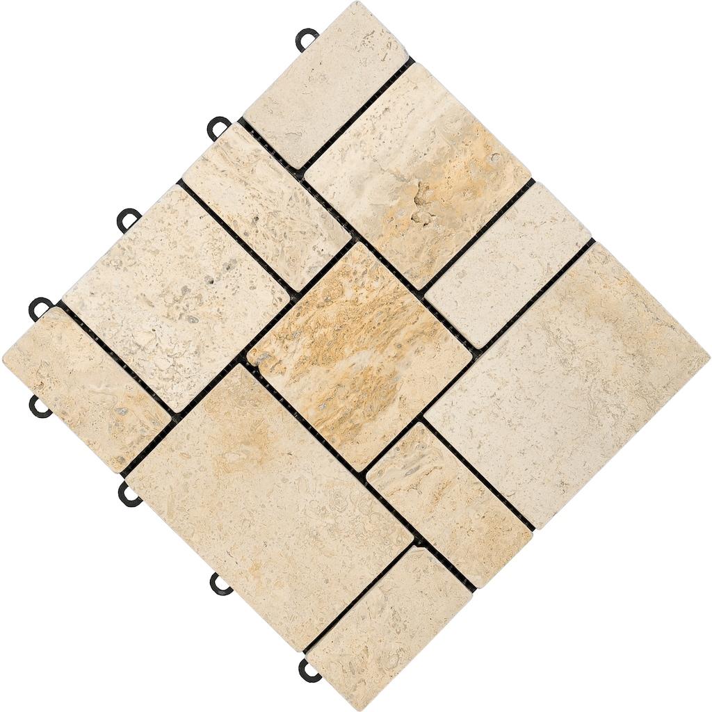 florco® Terrassenplatten »stone«, Klickfliesen