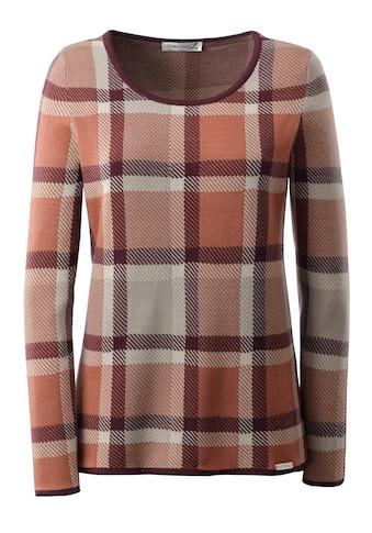 Casual Looks Pullover im markanten, großformatigen Karodessin kaufen