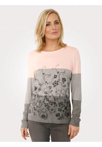 Mona Pullover mit Blumendruck kaufen