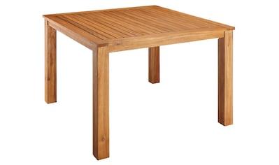 MERXX Gartentisch »Toskana«, Akazienholz, 110x110 cm, braun kaufen