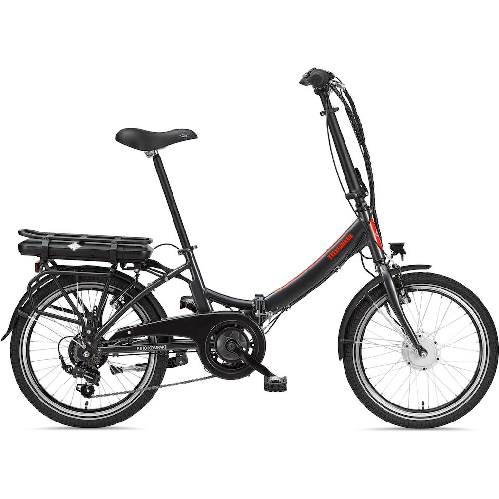 Telefunken E-Bike »Kompakt F810«, 7 Gang, Shimano, Shimano Tourney, Frontmotor 250 W
