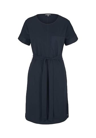 TOM TAILOR mine to five Jerseykleid »Elastisches Kleid mit Bindegürtel« kaufen