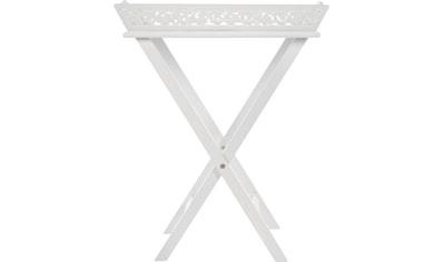 Beistelltisch »Romantick«, Serviertablett inkl. Gestell im Landhausstil gehalten kaufen