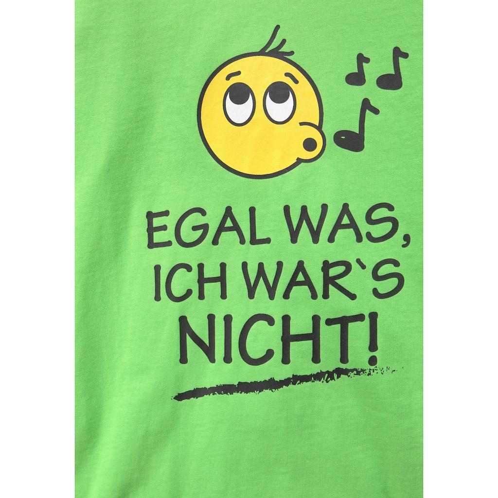 KIDSWORLD Langarmshirt »EGAL WAS; ICH WAR'S NICHT!«