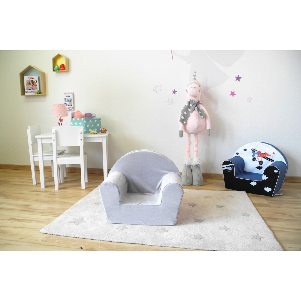 Knorrtoys® Sessel »Soft grey«, Made in Europe
