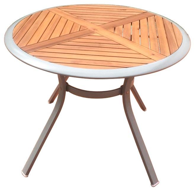MERXX Gartentisch Siena Alu/Akazie Ø 100 cm