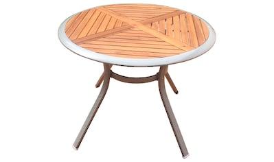 MERXX Gartentisch »Siena«, Alu/Akazie, Ø 100 cm kaufen