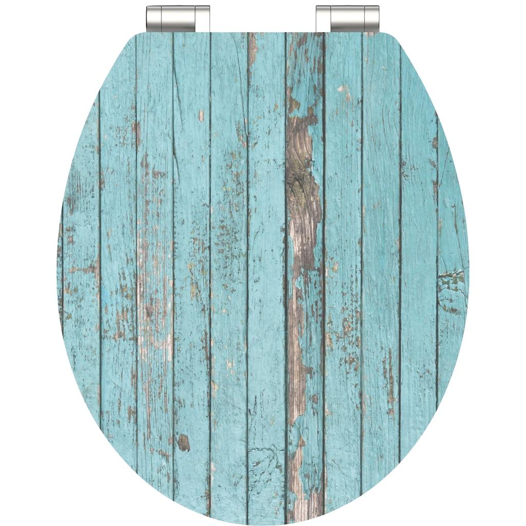 Schütte WC-Sitz »Blue Wood«, mit Absenkautomatik