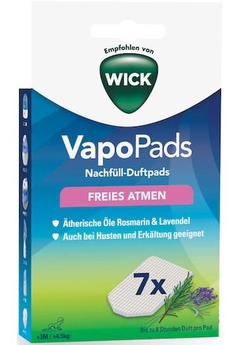 WICK Inhalations-Zusatz »WBR7V1 VapoPads Rosmarin/Lavendel«, (Packung, 7 tlg.),... kaufen