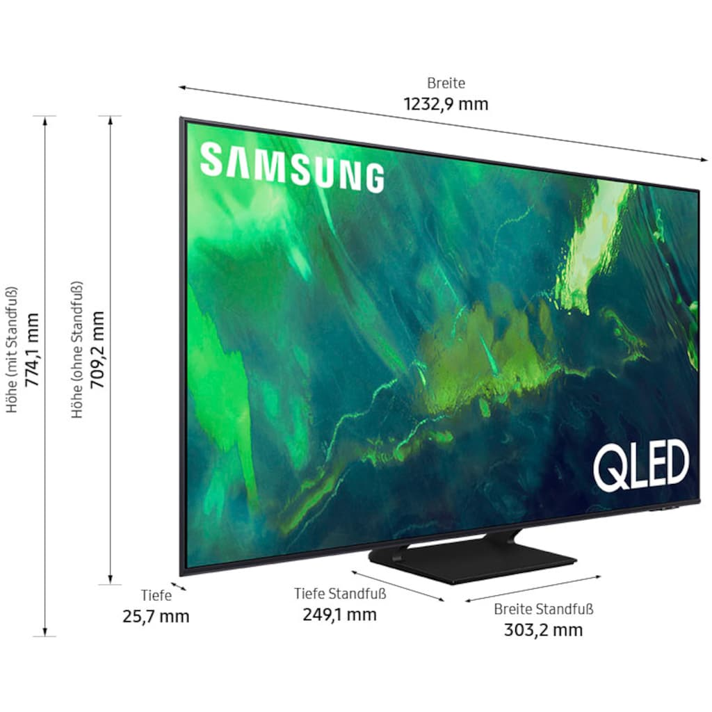 """Samsung QLED-Fernseher »GQ55Q70AAT«, 138 cm/55 """", 4K Ultra HD, Smart-TV"""