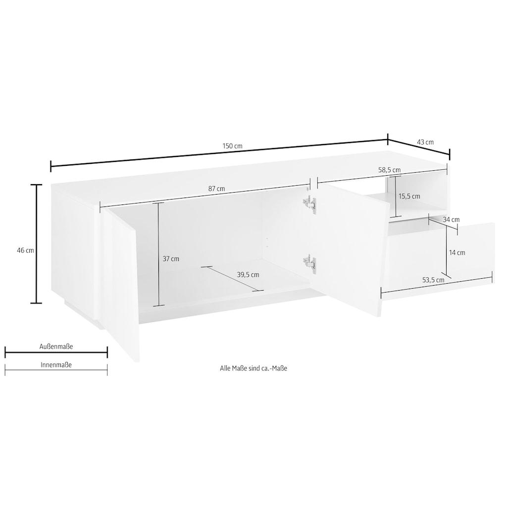 Tecnos Lowboard »Vega«, Breite 150 cm
