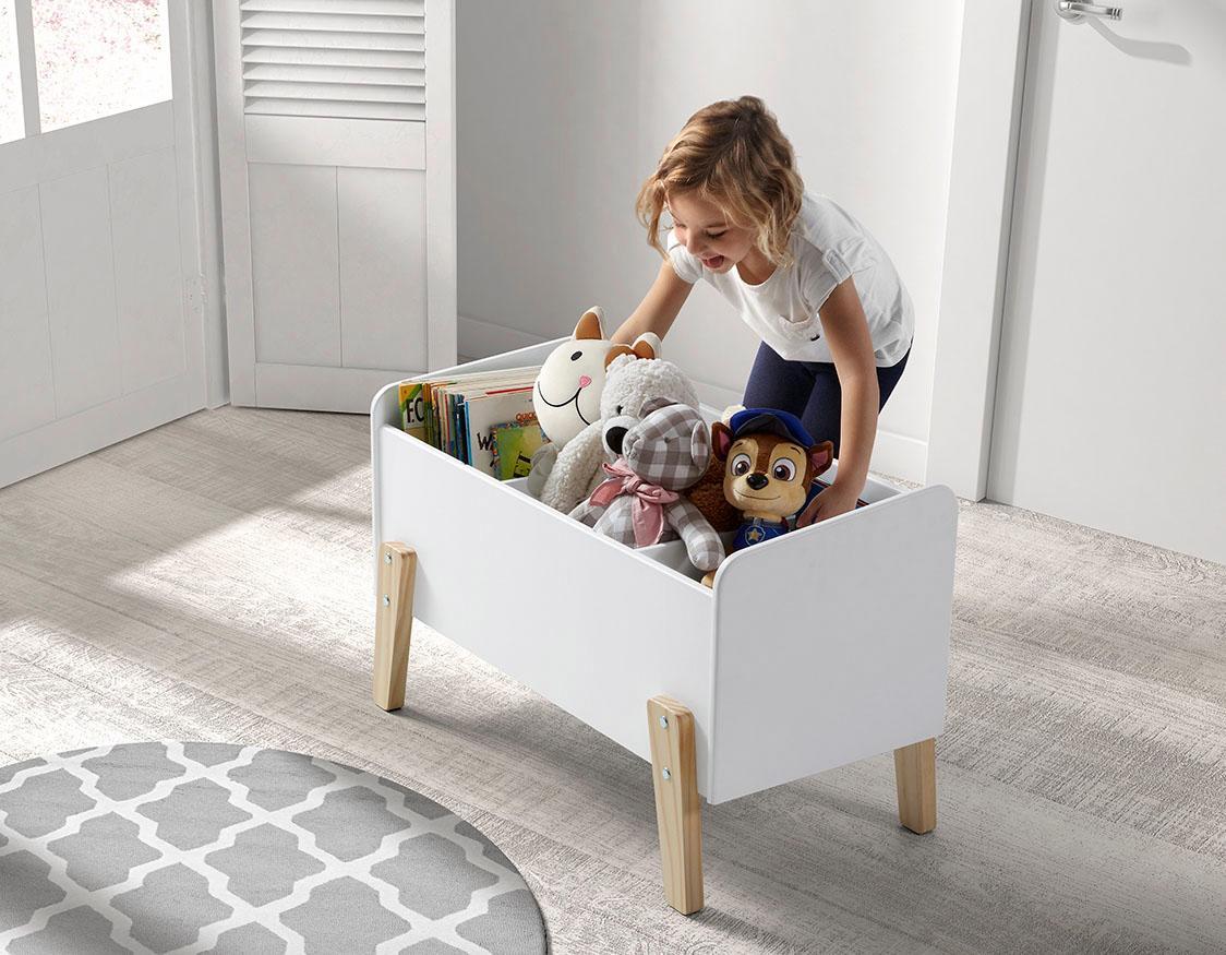 Vipack Spielzeugtruhe Kiddy, MDF-Oberfläche weiß Truhen Kleinmöbel