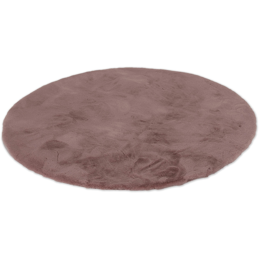 SCHÖNER WOHNEN-Kollektion Fellteppich »Tender«, rund, 26 mm Höhe, besonders weich durch Microfaser, Kunstfell, waschbar, Wohnzimmer