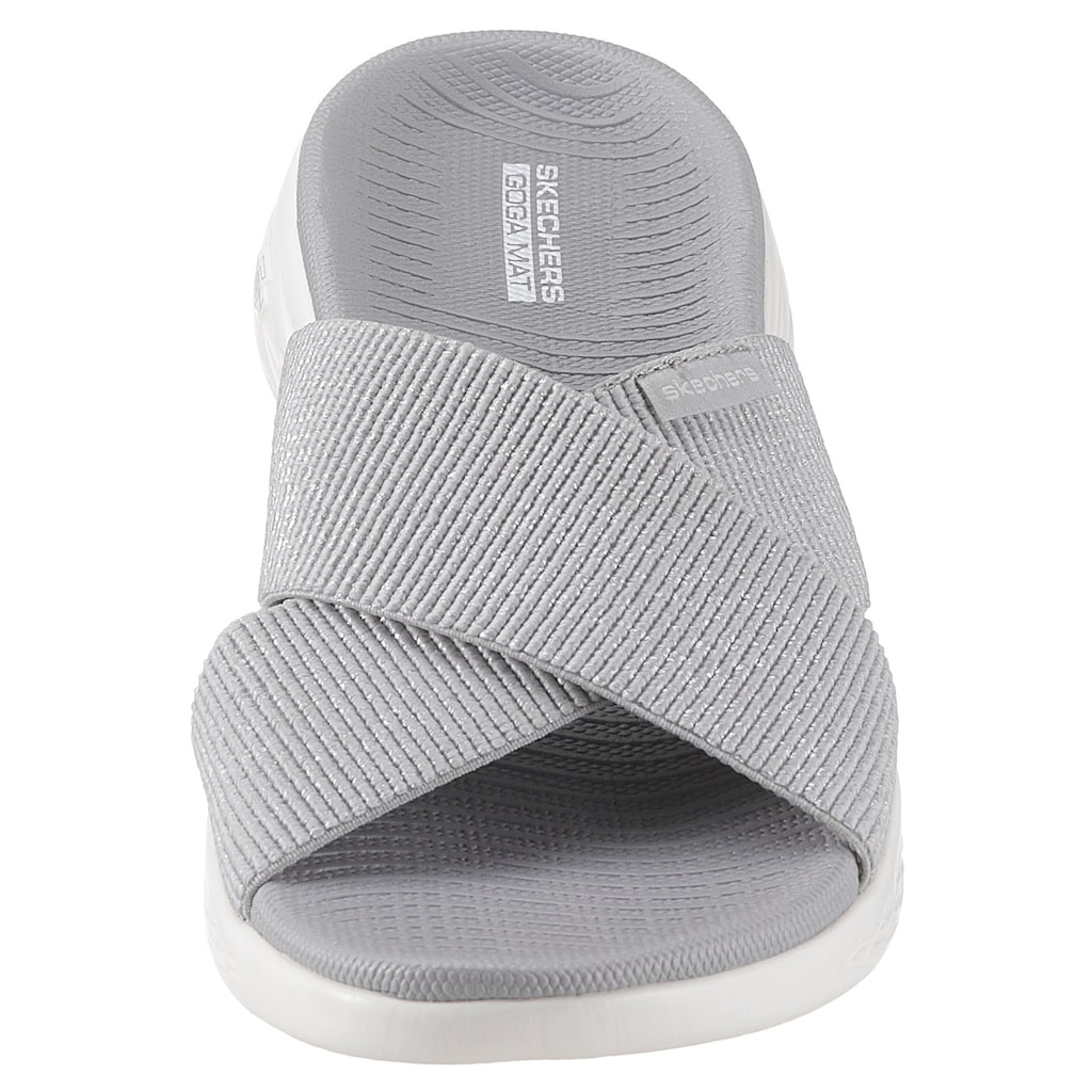 Skechers Pantolette »On the Go 600 - Glistening«, mit Stretch-Bandage