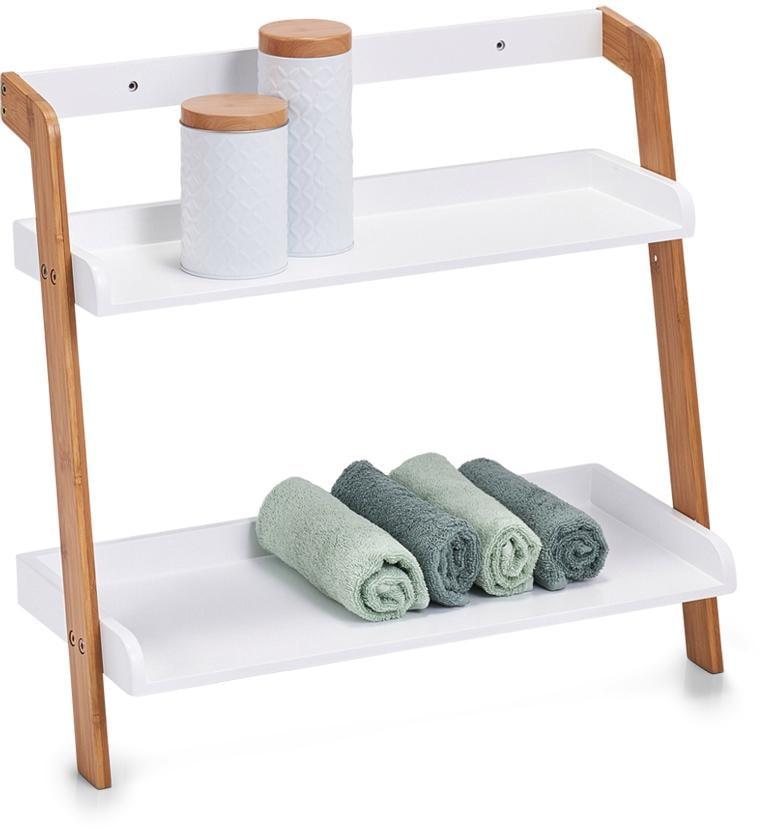 "Zeller Present Leiterregal ""Bamboo"" (Set 5 Teile) Wohnen/Möbel/Regale/Badregale"