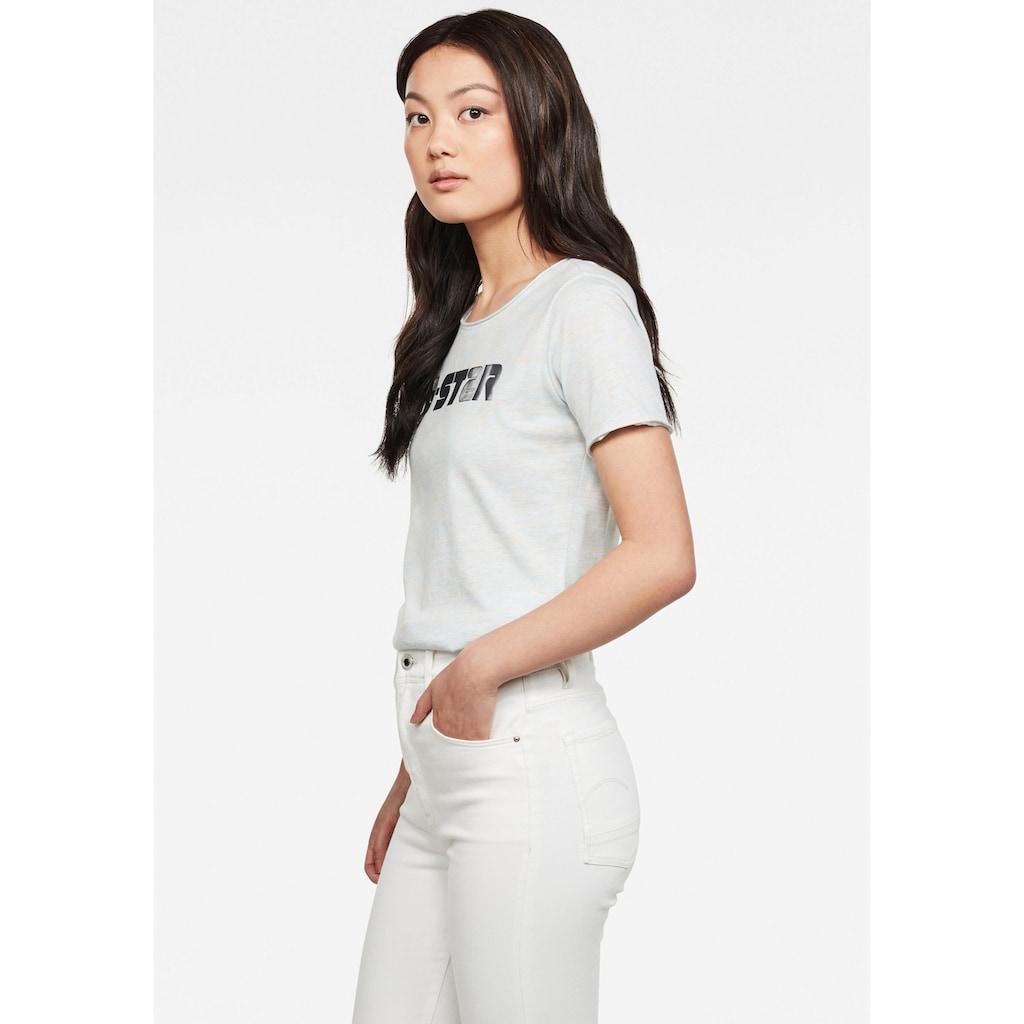 G-Star RAW T-Shirt »GR Mysid Optic Slim Top«, mit großem Logo Frontdruck