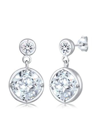 Elli Paar Ohrhänger »Ohrhänger Edel Kristalle 925 Silber« kaufen