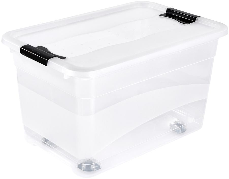 keeeper Aufbewahrungsbox konrad, (Set, 2 St.), mit Rollen farblos Boxen Truhen, Kisten Körbe Schlafzimmer Aufbewahrungsboxen