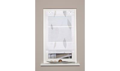 HOME WOHNIDEEN Raffrollo »PAOLO«, mit Ösen, freihängend, Querstreifen Digitaldruck kaufen